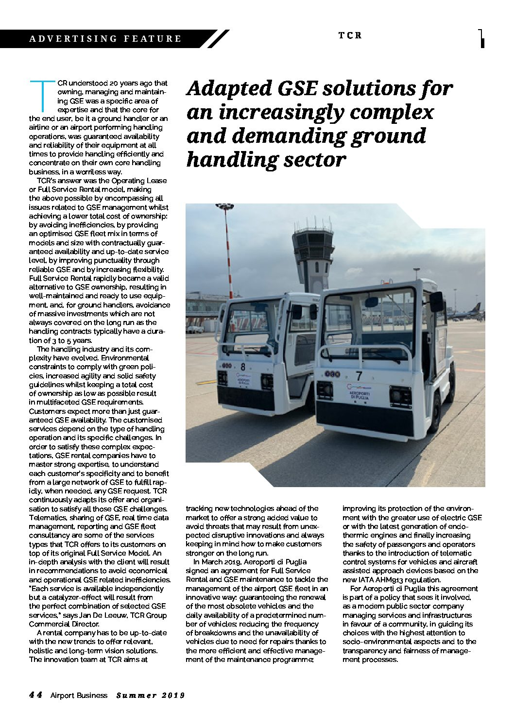 TCR Group | Ground Support Equipment GSE for aviation & airport